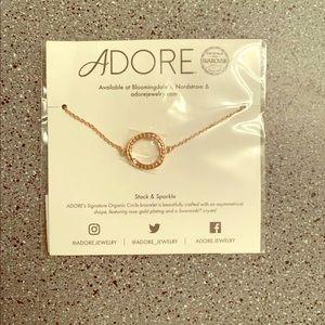 NWT ADORE Swarovski Circle Bracelet Rose Gold